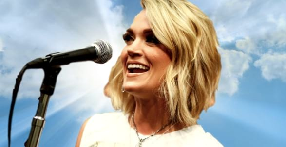 Clipping, religion, religious, sky, singing, singer, sing, carrie, Carrie Underwood, christian, God, bible