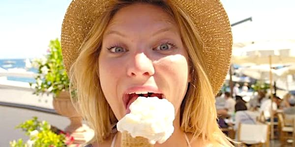 eating, eat, ice cream, gelato, hat, summer, girl, blond, good, hot, warm, florida, South, food