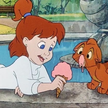 Jennifer, Oliver and Company, ice cream, strength, animals, beauty