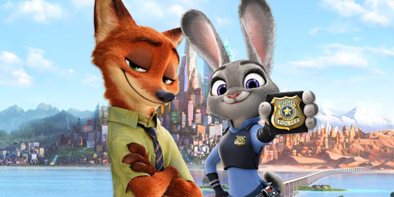 zooptopia, judy hopps, nick wilde, cops, duo