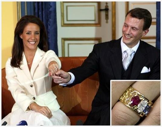 Crown Princess Mary of Denmark's Emerald Cut Diamond Ring With Ruby Baguettes, Princess Mary's Ruby Engagement Ring, celebs, fashion