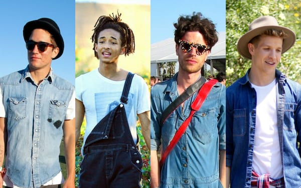 men's music festival outfits, what guys wear to music festivals, men's denim, men's festival outfits, fashion