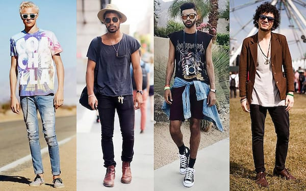 what guys should wear to music festivals, men's music festival outfits, guy's outfits for music festivals, fashion