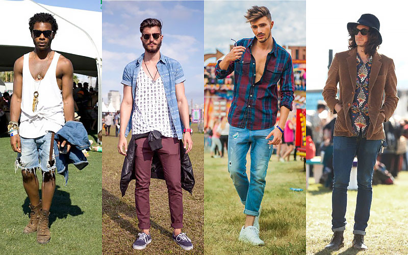 Guy's music festival outfits, men's outfits for music festivals, what men should wear to music festivals, men's shoes, fashion