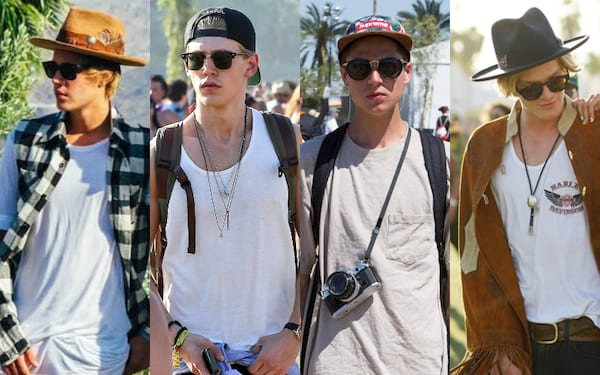 Guy's music festival outfits, men's outfits for music festivals, what men should wear to music festivals, men's hats, fashion