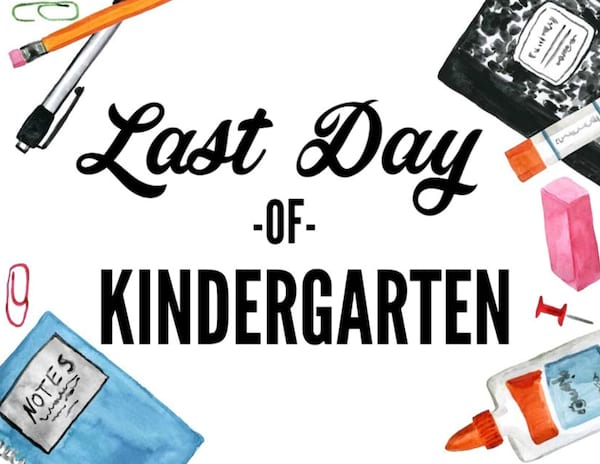 photograph regarding Last Day of School Signs Printable titled The Cutest Record Of Printable Very last Working day Of Faculty Signs or symptoms