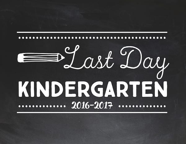 graphic relating to Last Day of Kindergarten Printable called The Cutest Checklist Of Printable Final Working day Of Higher education Signs and symptoms