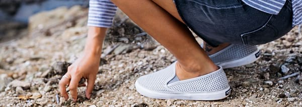 Sherry's SEASIDE PERFORATED SNEAKER, Pontoon Shoes, Best shoes to wear while Pontooning, Boat Shoes, women's boating shoes, fashion