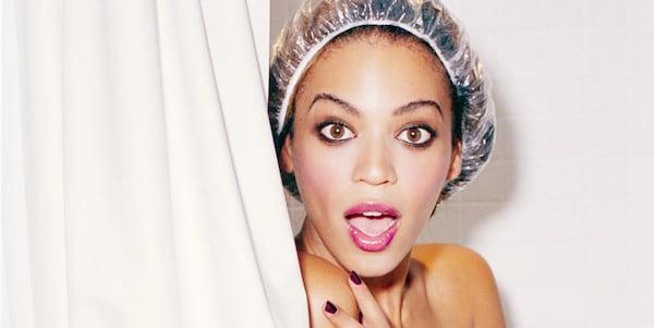 beyonce, shower, surprised, naked