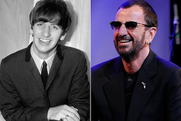 Ringo Starr, then and now, the Beatles, The Beatles Young and Old, The Beatles Before and After, celebs, Music