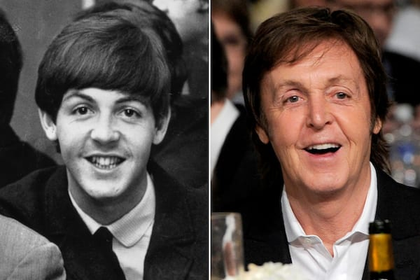 Paul McCartney, then and now, the Beatles, The Beatles Young and Old, The Beatles Before and After, celebs, Music