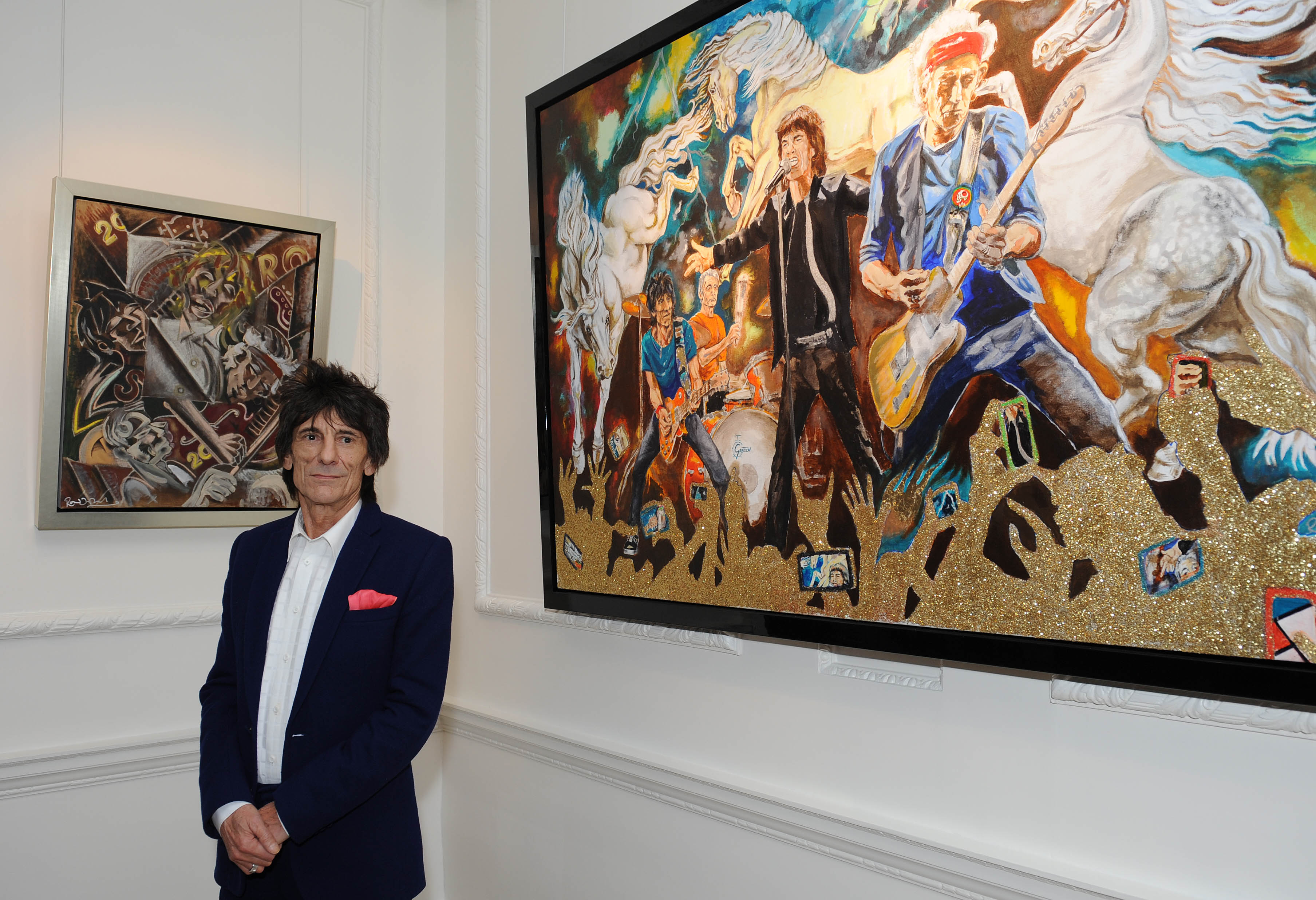 Rolling Stones Ron Wood, Ron Wood artist, Ronnie Wood paintings, Ron Wood art exhibit, celebs, movies/tv