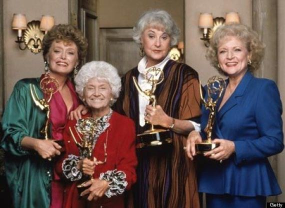 Golden Girls Emmys, The Cast of the Golden Girls, bea arthur, Estelle Getty, Rue McClanahan, betty white, celebs, movies/tv