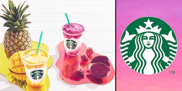 starbucks, New drinks, Frappuccino, Berry Prickly Pear frappuccino, Mango Pineapple frappuccino, pop culture, culture, food & drinks