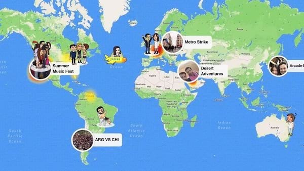 Best Places In Snap Map And How To Search   Snapchat 2017 - Women.com