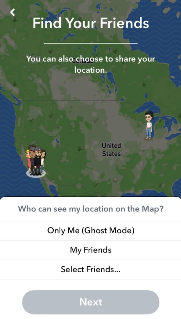 Snapchat snapmap location ghost mode