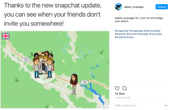 Snap Map Meme, snap map, social media, snapchat