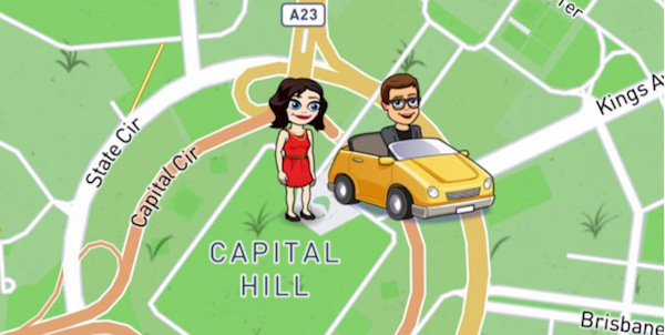 Snap Map Bitmoji In A Car, snapchat, snap map