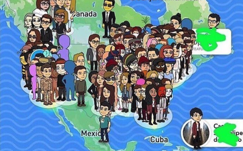 Snap Map Bitmoji When You Have A LOT of Friends, snap map, snapchat
