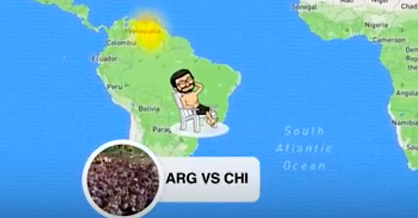 Snap Map Bitmoji At The Beach Relaxing In A Chair, snap map, snapchat