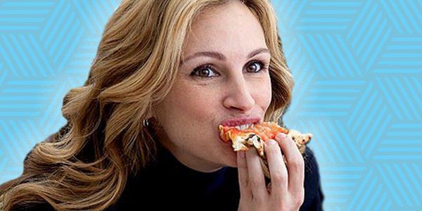 julia roberts, ps, ps Julia Roberts, pizza, eating, eating pizza, blue, italian, Italy, new york, Chicago