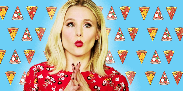 ps, ps kristen bell, Kristen Bell, pizza, food, eating, Italy, italian