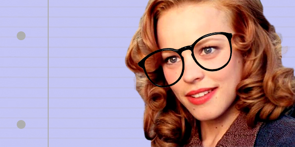 ps, ps rachel mccadams, rachel mccadams, the notebook, notebook, smart, intelligent, school, glasses, nerd