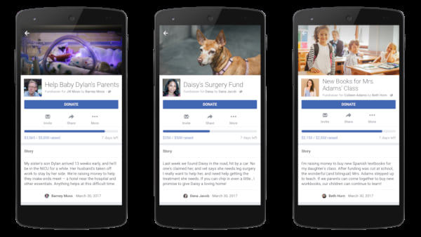 Facebook personal fundraising, 2017 Facebook Updates, Facebook Updated Features, Newest Facebook Features, New to Facebook, science & tech