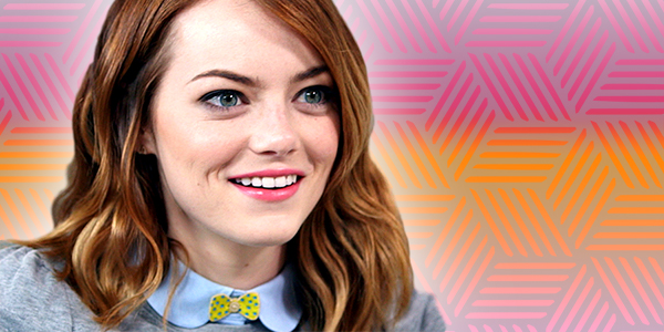 ps, ps Emma stone, Emma Stone, smile, ps gradient, gradient, shocked