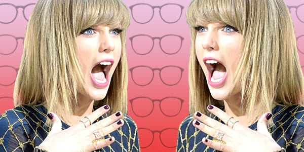 ps, ps Taylor swift, Taylor Swift, shocked, ps shocked, surprised, flattered, intelligent, smart, glasses, school