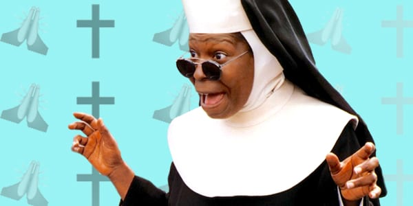 ps, ps Whoopi Goldberg, Whoopi Goldberg, shocked, excited, praying, happy