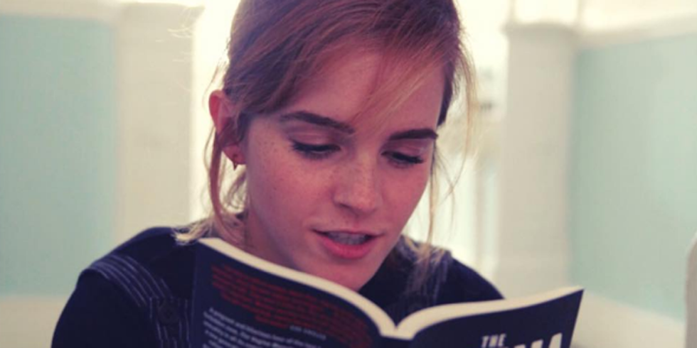 emma watson, Elle, reading, books