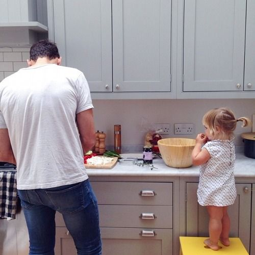 kid, cooking, family
