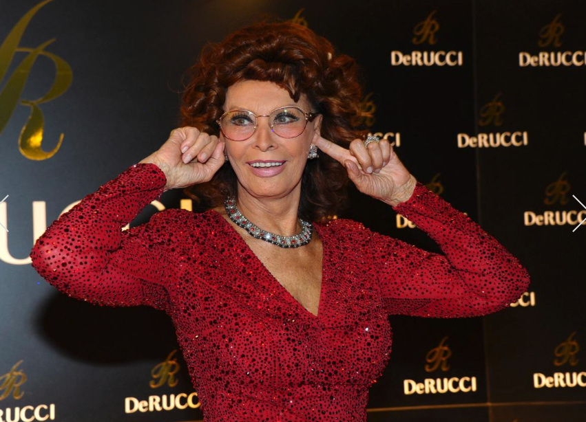 Sophia Loren at the DeRucci Grand Opening party