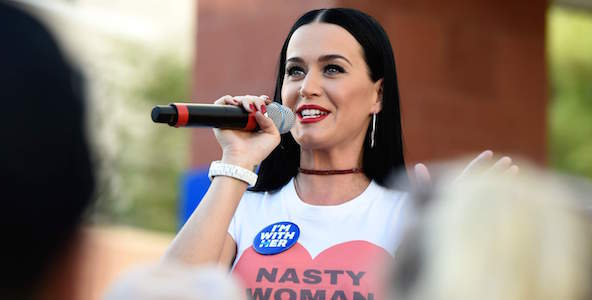 katy perry, women's march, protest, politics