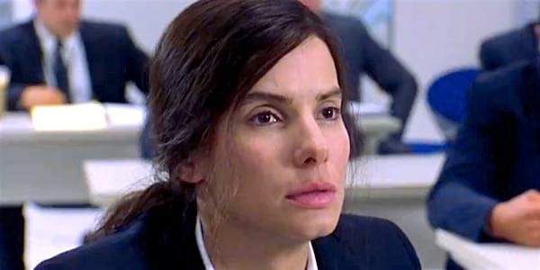 Sandra Bullock as an FBI agent in Miss Congeniality