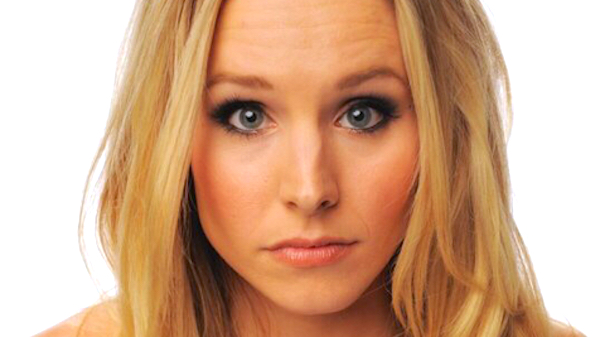 Kristen Bell, shock, confused, quiz, juju, bad, think, thinking, iq, general knowledge, girl, blonde, celebs, idk, what, close up, close