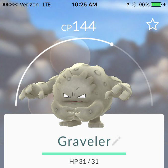 graveler to beat zapdos pokemon go