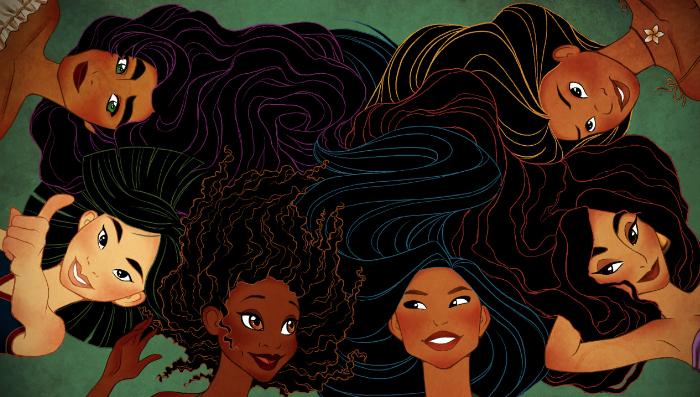 Disney, princesses, diversity, color