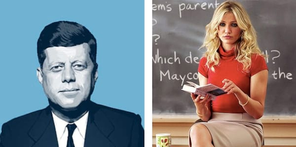 history, teacher, jfk, cameron diaz, bad teacher, pop art, ps