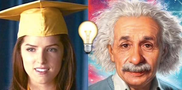 einstein, Clipping, ps, lightbulb, emoji, smart, quiz, iq, split screen, slpit, graduation, good, genius
