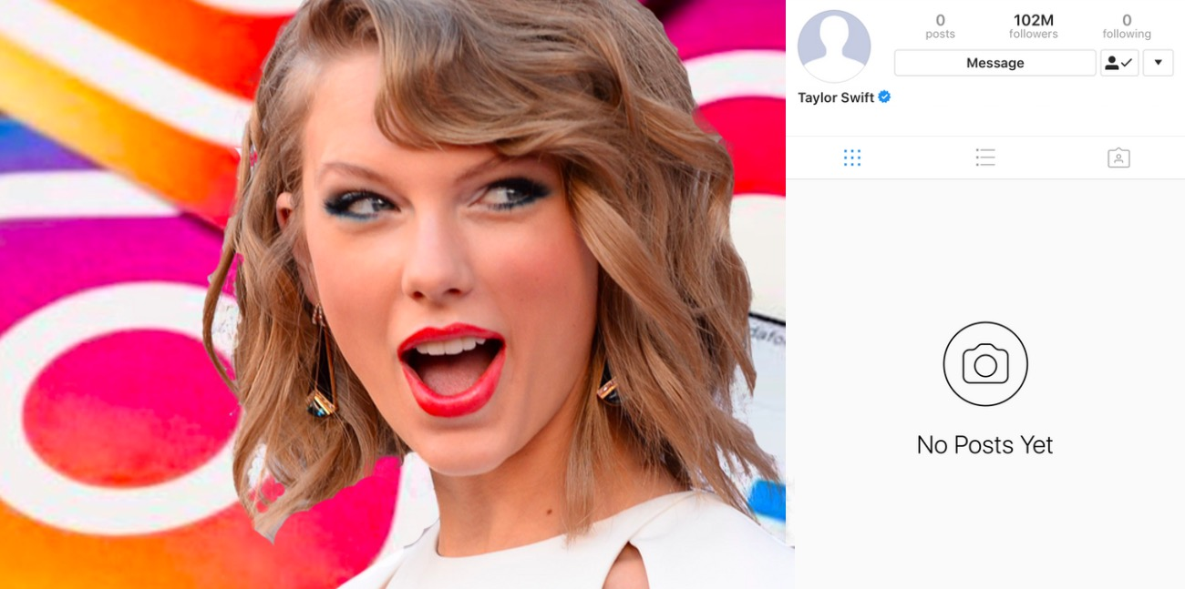 Taylor Swift, Was Taylor Swift's Instagram Hacked?, Why Are Taylor Swift's Profile Pictures Blank On Instagram, facebook, And Twitter?