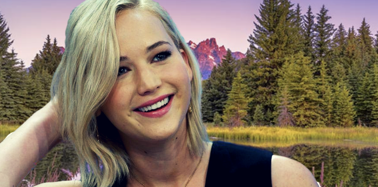 wyoming, forest, nature, trees, jennifer lawrence