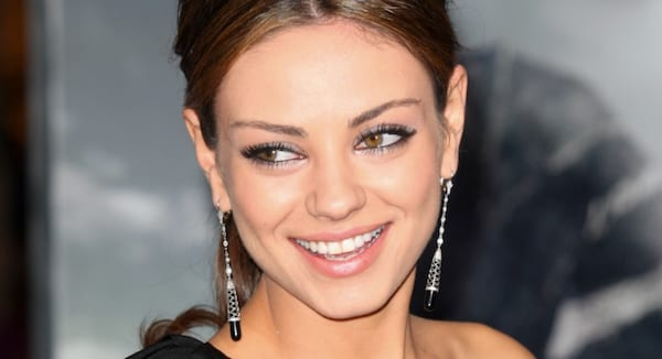 mila kunis, mila, brunette, italian, Greek, russian, pretty, celeb, girl, brown hair, happy