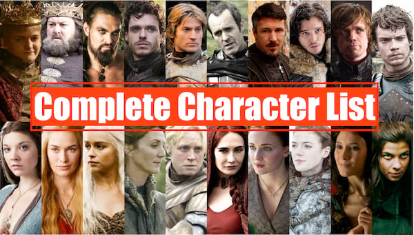 Every Single Character From Game of Thrones 2017