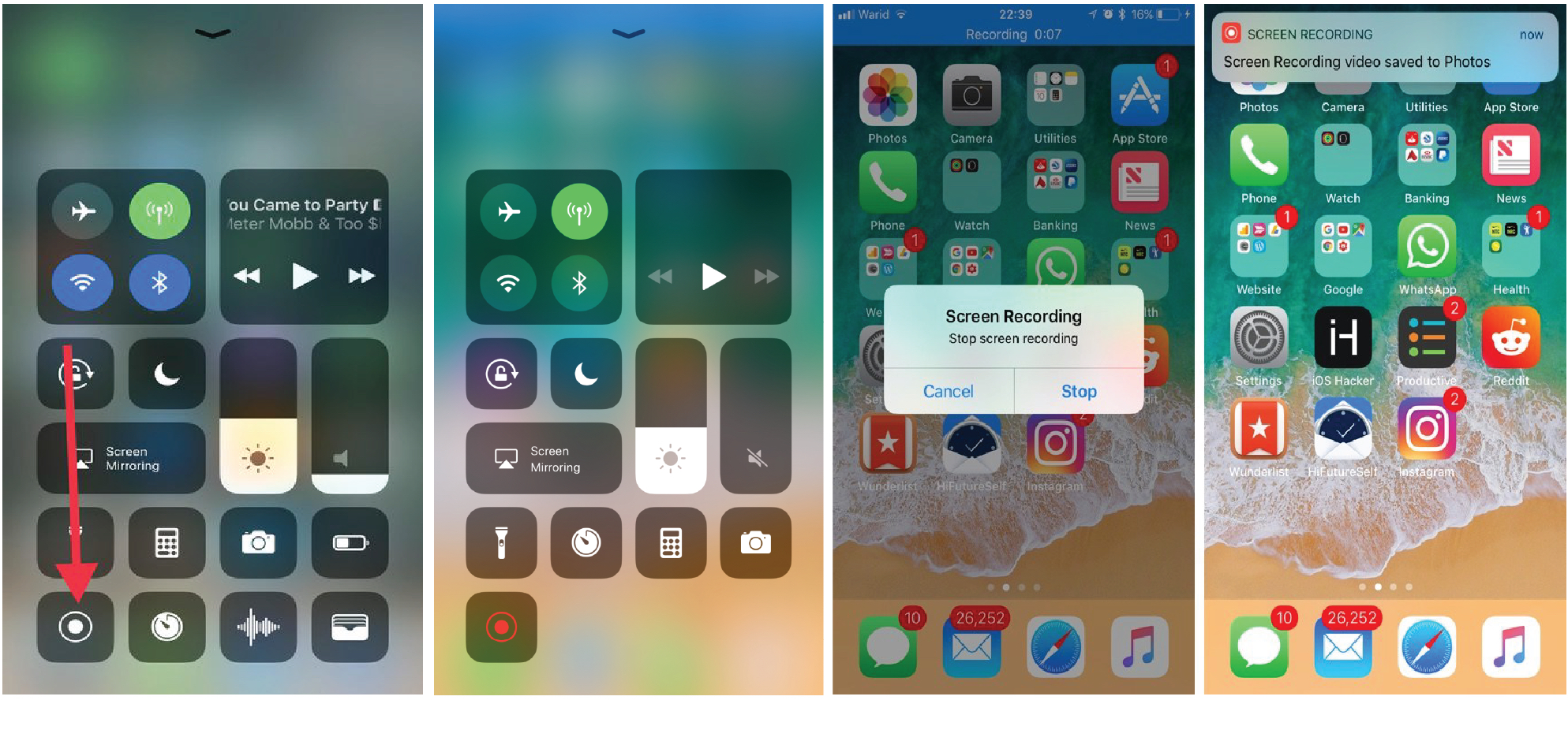 Start Screen Recording And Capture The Instagram Video
