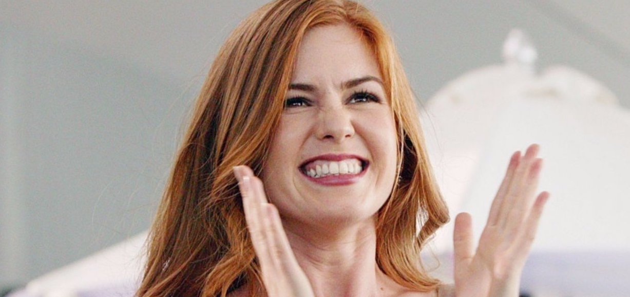 Wedding Crashers, Isla Fisher, smile, clapping, excited