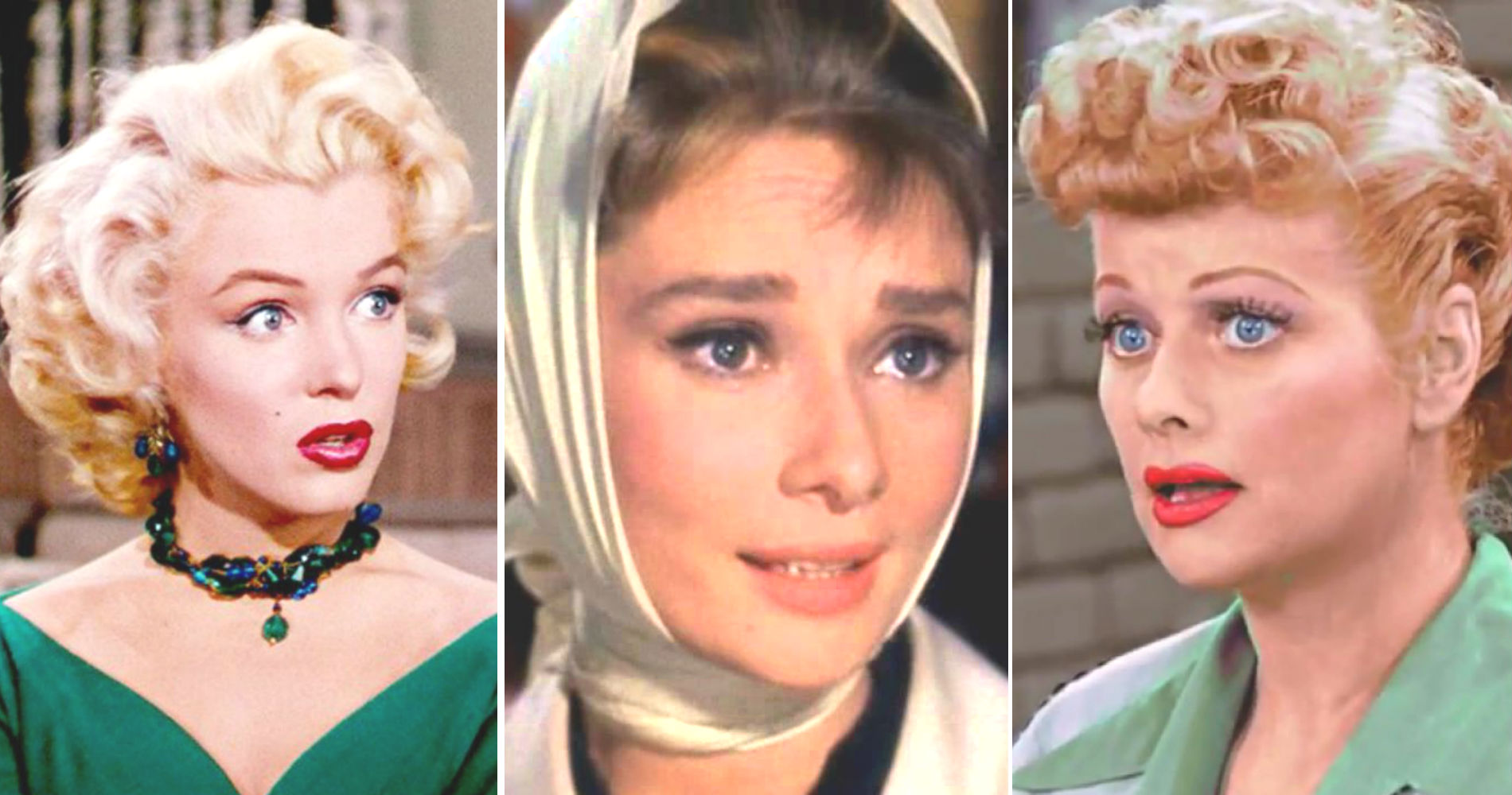 hair color, blonde, brunette, red head, redhead, I Love Lucy, marilyn monroe, audrey hepburn, lucille ball