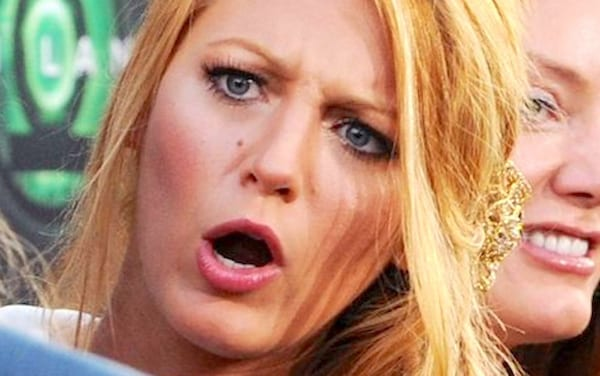 blake lively, funny, funny face, lol, weird, shock, shocked, confused, smart, quiz, blond, NYC, celebs, juju