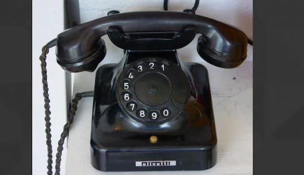 rotary phone, vintage items